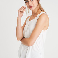 AE FAVORITE SCOOP NECK TANK TOP, White