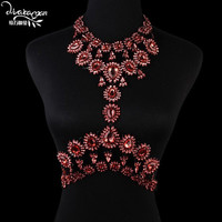 Body Chain Gold Plated Jewelry Crystal Rhinestone