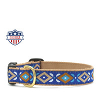 "Up Country Dog Collar - 5/8"" or 1"" width - Aztec Blue"
