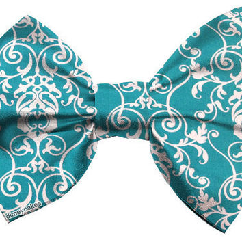 Turquoise Victorian/Baroque Hair Bow