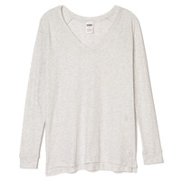 High/Low Long Sleeve V-neck - PINK - Victoria's Secret