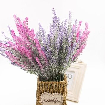 wedding home decoration Romantic Provence lavender flower silk artificial flowers grain decorative Simulation of aquatic plants