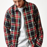 PacSun Tartan Plaid Flannel Long Sleeve Button Up Shirt at PacSun.com