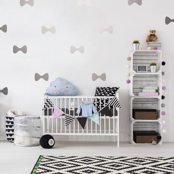 Bow Wall Decals, Wall Stickers, Bow Wall Stickers, Bow Pattern, Kids Wall Decal, Kids Room Decal, Pattern Wall,Bow Decals, Set of 50 Decals