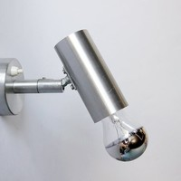 Modernist German Chromed Wall Light Lamp - OMI  Leuchten 70s