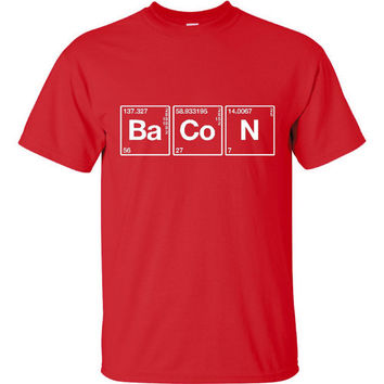 Bacon Elemental Geek Science Funny Nerd Bacon T Shirt Kids Mens & Womans Printed T Shirt