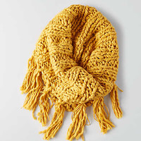 AEO Fringe Snood , Yellow