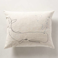 Bubbling Whale Pillow