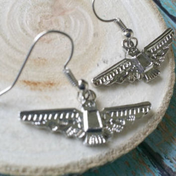 Thunderbird Earrings / Native Totem Jewelry / Western Jewelry / Southwest Jewelry  / Tribal Bird Earrings / Native American Jewelry