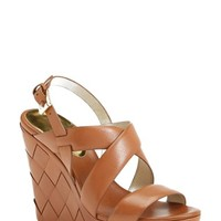 Women's MICHAEL Michael Kors 'Bennet' Leather Wedge Sandal,