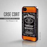 iPhone 4 Case iPhone 4s Case  Jack Daniels Cool old no by CaseCoat