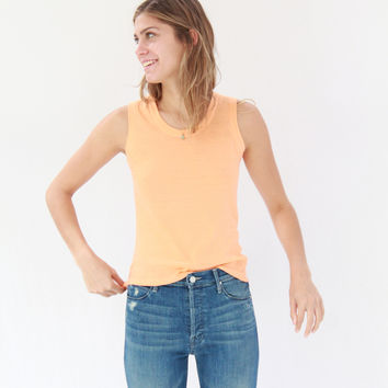 Lina Rennell Tank Cotton / Silk Knit Citrus