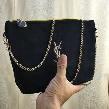 YSL new embroidery velvet chain with a single shoulder bag with large capacity gift wrap