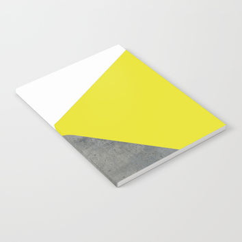 Concrete vs Corn Yellow Notebook by ARTbyJWP