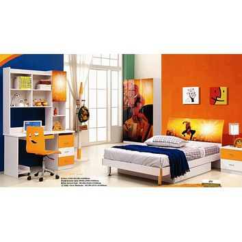 Kids Room Furniture Set Contemporary Design - Spiderman Theme