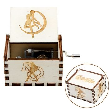 New Arrivals Wooden Music Box  Zelda Game Of Thrones Castle In The Sky Beauty And Beast Christmas Theme Gift