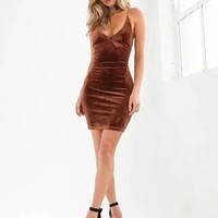 V Neck Solid Lace Up Sexy Club Mini Dress