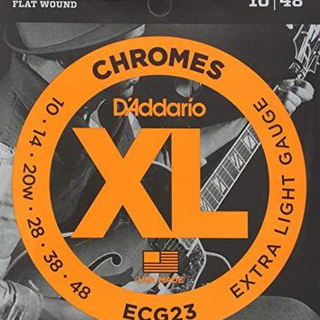 ECG23 Chromes Flat Wound,Extra Light, 10-48