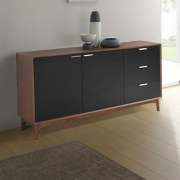 Shop Zuo Modern Liberty City Black/Walnut Sideboard at Lowes.com
