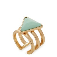 Pyramid Caged Ring - Wider Fit