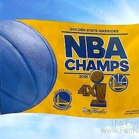 Golden State Warriors 2015 Champions 3x5 Flag Championship Banner Basketball