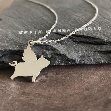 Flying Pig Necklace-C81