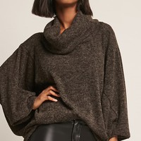 Cowl Dolman-Sleeve Top