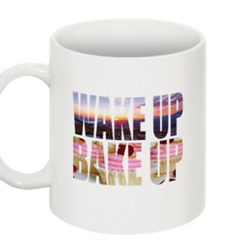 Wake up bake up marijuana coffee mug