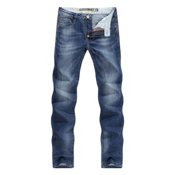 Men Jeans Business Casual Slim Fit Skinny Jeans Stretch Denim Pencils Pants Tapered Trousers Classic Cowboys Young Man Jean Male