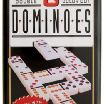 double 6 color dot dominoes game set Case of 4