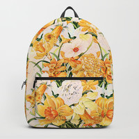 Wordsworth and the daffodils. Backpack by anipani