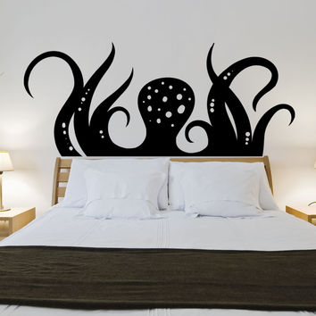 Vinyl Wall Decal Sticker Rising Octopus #OS_MB1169