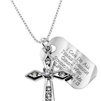 Cubic Zirconia Cross Necklace | Mardel
