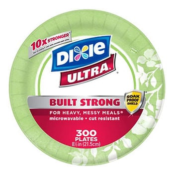"""Dixie Ultra 8 1/2"""" Heavyweight Paper Plates (300 ct.)"""