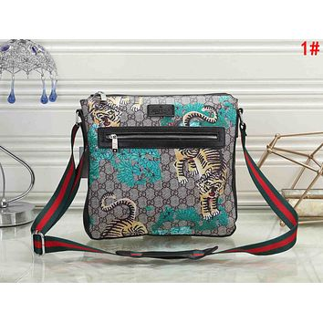 GUCCI Trending Women Men Stylish Office Bag Leather Satchel Shoulder Bag Crossbody 1#