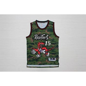 Toronto Raptors #15 Vince Carter Retro Camo Swingman Jersey | Best Deal Online