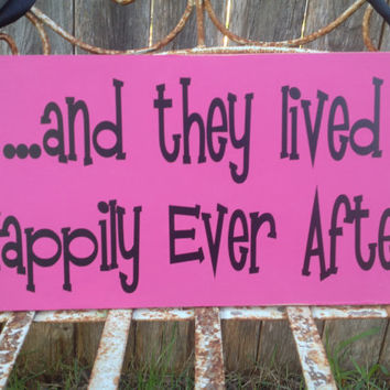 and they lived Happily Ever After - One sided - Ring Bearer sign, Flower girl sign, Disney Wedding Sign