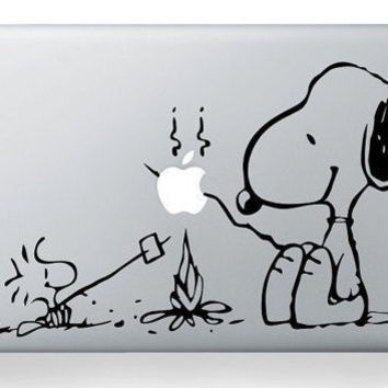 snoopy decals macbook stickers macbook mac decal by MiracleDecal