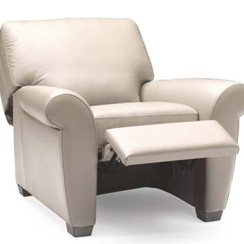 Allaro Reclining Leather Chair by Natuzzi Editions