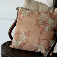 Fall Floral Handmade Pillow