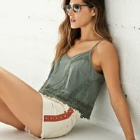 High Rise Embroidered Side Fray Cut-off Shorts - Womens Shorts - White -