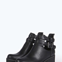 Eve Buckle Side Cut Work Cleated Boot