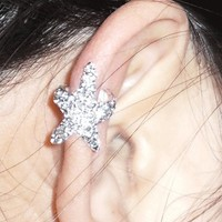 Fashion Sparkly Starfish Ear Cuff