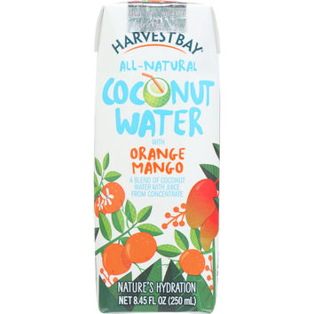 Harvest Bay Coconut Water - Orange Mango - 8.45 oz - case of 12