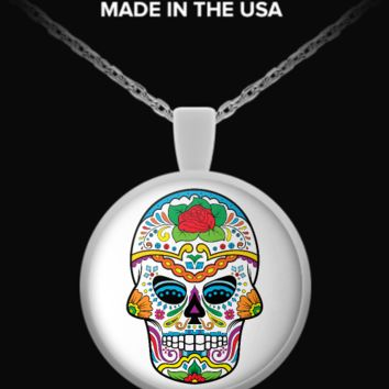 Day Of The Dead - Sugar Skull Necklace 6 sugarskull-necklace6