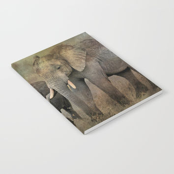 Mother And Child Notebook by Theresa Campbell D'August Art