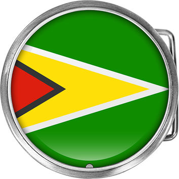Guyana Flag Belt Buckle