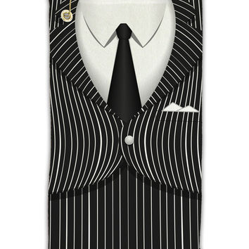 "Pinstripe Gangster Jacket Printed Costume Micro Terry Gromet Golf Towel 11""x19"" All Over Print"