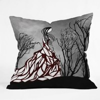 DENY Designs Amy Smith Lost In The Woods Throw Pillow, 16-Inch by 16-Inch