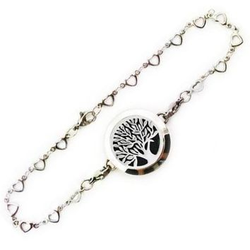 Tree of Life Stainless Steel Essential Oil Diffuser Bracelet [18 variations]